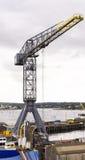 Dockland crane Stock Images