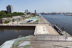 View from Dockland, Hamburg Royalty Free Stock Photos