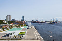View from Dockland, Hamburg Stock Photo