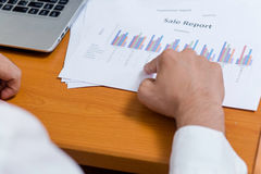 View the document statistics in office. royalty free stock images