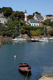View of Doelan harbour with Lighthouse Royalty Free Stock Image
