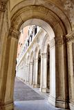 View of the Doge's Palace through the arch Royalty Free Stock Photos