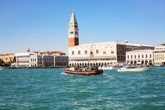 View of Doge`s Palace from San Marco basin Stock Image