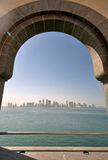 View of Doha city from The Museum of Islamic Art Royalty Free Stock Images