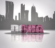 View of Doha vector illustration