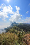 View from Doi Pha Tang,Wiang Kaen district,Chiang Rai,Thailand. Doi Pha Tang is a viewpoint on top of a high cliff over the Thai-Laotian border affording a stock image