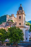 View of Dolceacqua in the Province of Imperia, Liguria, Italy.  royalty free stock images