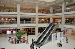 View of Dolmen City shopping mall in Karachi, Pakistan Stock Photos