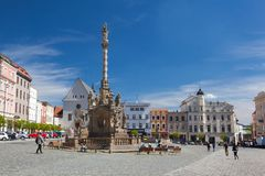View on the Dolni square of Olomouc, Czech Republic,. Olomouc, Czech Republic - May 5,2017: View on the Dolni square of Olomouc, Czech Republic, Original name Royalty Free Stock Photos