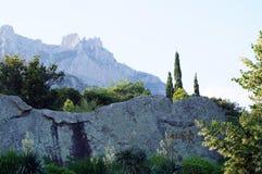 View of the Dolomite mountains Stock Photos
