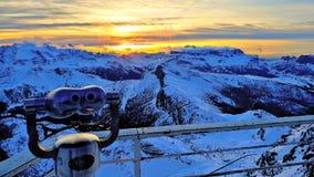 View of the Dolomites stock photos