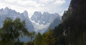 View of the Dolomites Italy Stock Photos