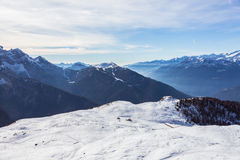View  of Dolomites Stock Photography