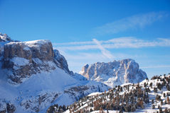 View of Dolomites mountain in Val Gardena Royalty Free Stock Image
