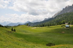 View of dolomites Stock Photo