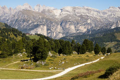 View Dolomites Passo Sella, Italy Royalty Free Stock Photos