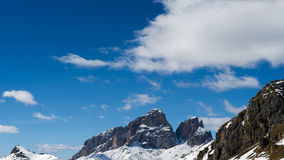 View of the Dolomites from the Pordoi Pass Stock Photo