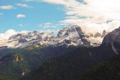View of the Dolomites Trentino Alto Adige. Trekking in the around Dolomites mountains - site Trentino Alto Adige royalty free stock image