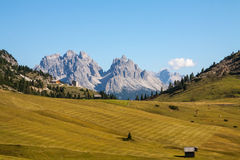 The view of Dolomiti mountain Stock Image