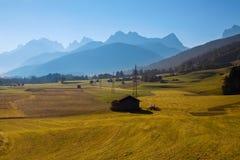 The view of Dolomiti mountain Royalty Free Stock Photo