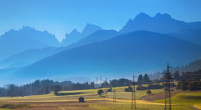 The view of Dolomiti mountain Royalty Free Stock Photography