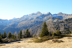 The view on Dolomiti mountains Royalty Free Stock Photos