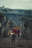 View of Dom Louis bridge in Porto, Portugal Royalty Free Stock Image