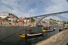 View of Dom Luis bridge in Porto Royalty Free Stock Photos