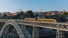 View of Dom Luis I bridge in Porto Royalty Free Stock Photography