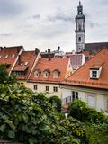 Rooftops of Freising. View from the Domberg in the city of Freising overlooking the rooftops of the city center Royalty Free Stock Images