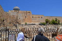 View of the dome of the Al-Aqsa Mosque in Jerusalem, Israel Stock Photos