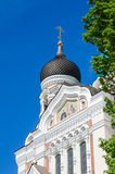 View of the dome Alexander Nevsky Cathedral in Tallinn Royalty Free Stock Photography