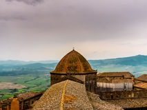 View of the dome of the cathedral of Volterra royalty free stock images