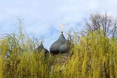 View of the dome of the Church of the Intercession of the Virgin Royalty Free Stock Image