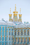 View of the dome of the Church of the Resurrection, February day. Palace, Tsarskoye Selo. View of the dome of the Church of the Resurrection, February day royalty free stock photography