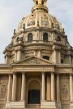 View of Dome des Invalides, burial site of Napoleon Bonaparte, Paris Royalty Free Stock Photos
