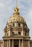 View of Dome des Invalides, burial site of Napoleon Bonaparte, Paris Stock Images