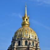 View of Dome des Invalides, burial site of Napoleon Bonaparte, Paris Royalty Free Stock Images