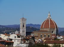 The duome of Florence in Italy Stock Image