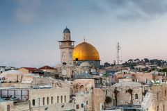 Nice view of the Dome of the Rock stock photos