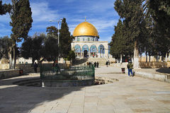 View of Dome of the Rock mosque, Jerusalem Stock Images