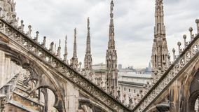 View from Dome. View from the roof of the Dome of Milan royalty free stock images