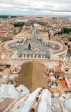 View from the dome of Saint Peter`s Basilica. Stock Photography