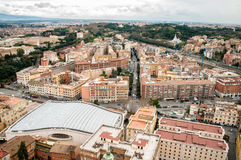 A view from the dome of the Saint Peter`s Basilica. Stock Image