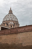 View of the dome of San Pietro by a neighboring street Royalty Free Stock Images