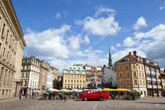 View from Dome Square in Riga Stock Photos