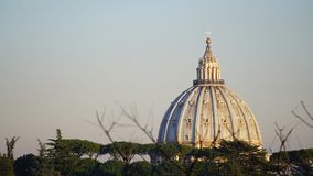 View of the dome of St. Peter from a hill stock photo