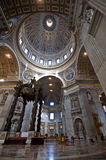 St. Peter's Basilica. View of the dome of St. Peter's Basilica Royalty Free Stock Image