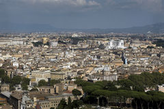 View from the Dome of St. Peter's Basilica in the Vatican City, Royalty Free Stock Photography