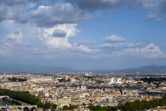 View from the Dome of St. Peter's Basilica in the Vatican City, Stock Photo